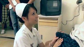 Japanese hospital nurse fucks 5