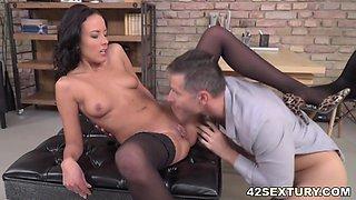Sexy secretary Lexi Layo