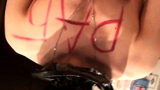 Amateur Russian slut getting trained in bondage POV style