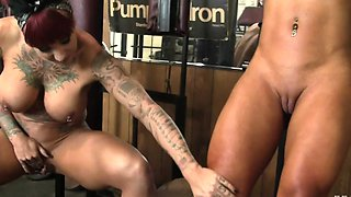 Dani Andrews and Megan Avalon In The Gym