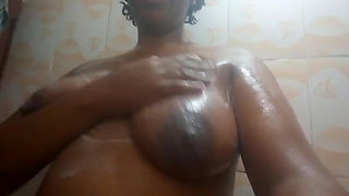 Wairimu-Esther --- boobs in the shower
