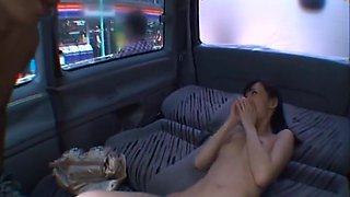 Aino Kishi Asian doll has sex in her car