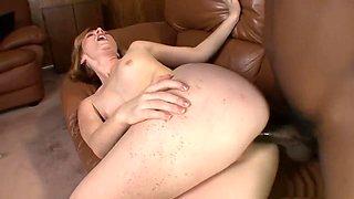 Crazy pornstar Allison Wyte in incredible creampie, redhead porn clip