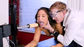 Girl has sex with machine turning doctor on making him nail her