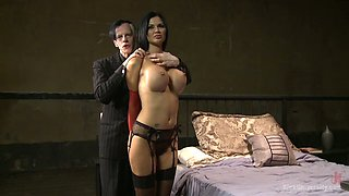 Big breasted MILF Jasmine Jae gets tied up and brutally fucked mish
