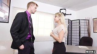 WANKZ Juicy Ass Blond Secretary Valerie