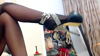 Mistress Ac, in pantyhose teas, worship and smoking part 2