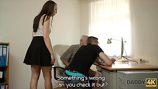 Dad will fucking your gf while you are sitting at the PC