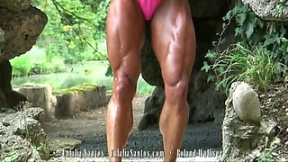 Smoothe Big Muscles On Eulalia's Body!