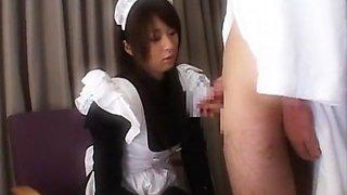 Best Japanese model in Incredible Maid JAV clip