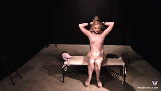 Blonde MILF gets kidnapped and forced to deep throat cock tied up