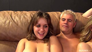 Closeup video of one man fucking Dixie Belle and her friends