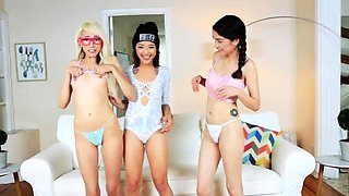 Orgy anal party slut and playfellow' chum's sisters tiny Cam