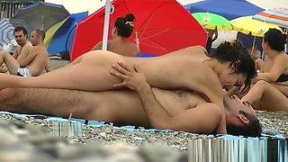 Perfect busty tits nude beach voyeur