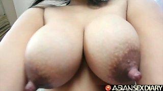 asian sex diary - filipina milf sucks and fucks white guy