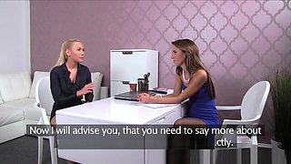 Blonde sexy boss teaches agent the art of seduction