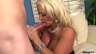 Busty cougar Alura Jenson seduces a fellow for a shag