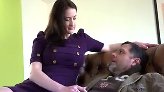 Daddy Desperately Wants To Put His Cock Between His Stepdaughters Big Boobies