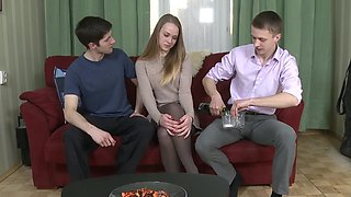 Pickup for beauty ends with stripping and being naked with men