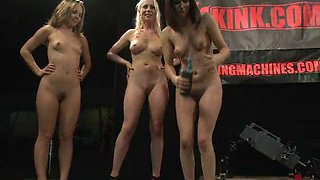 Hot Fucking Machine Action With A Lesbian Foursome