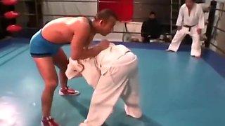 Judo girl VS Wrestling boy maledom