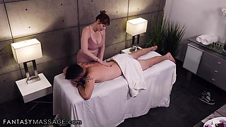 Valentina Nappi, Mike Mancini And Lauren Phillips In She Hides To Give Him A Handjob During His Massage