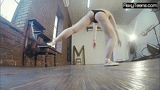 Hot pale gymnast Rita
