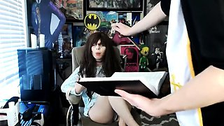 Sexorcism show from a kinky couple of teen webcam models