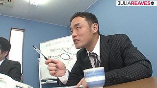 Asian secretary fucked hard by the boss