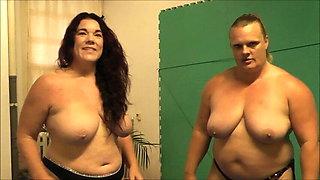 Kristie Etzold vs Anna Konda – Naked Female Wrestling