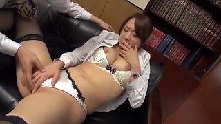 Hottest Japanese chick Saki Hatsuki in Amazing Rimming, Couple JAV video