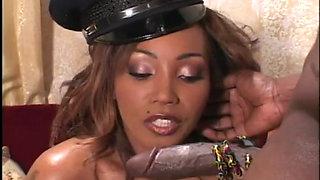Sexy Ebony Cop Gets Fucked Hard