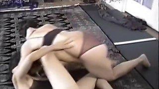 brunettes wrestling naked