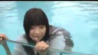 SNYD-036 Japanese schoolgirls wetlook 2