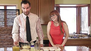 Fucking Penny Pax while cooking