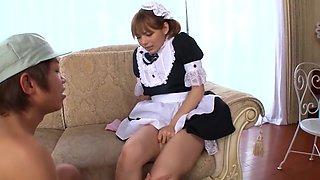cute chick Rio(Yuzuki Tina) amazing fellatio and cumshot