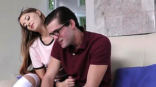 Perverted companion's step brother gets punished The Sibling