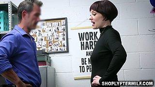 Officer punishes sexy teacher for stealing a bunch of stolen merchandise