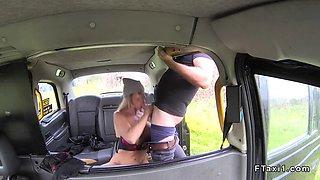 australian babe gets british cock in cab