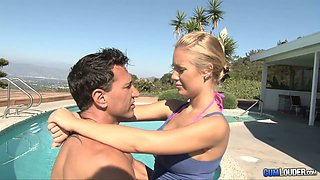 Sex-hungry hottie is fucked by well endowed stud Marco Banderas