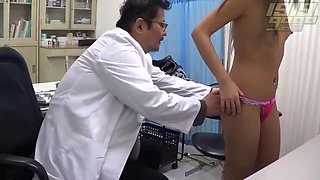 Petite student is often visiting her doctor and enjoying when she has to get naked