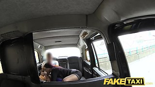 Fake Taxi Secretary looking lady with huge tits and wet puss