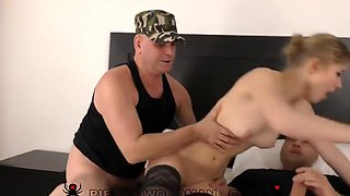 Two Latinos On The Casting Penetrate Fat Dicks Into A Slim Girl