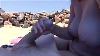 beach of fuerteventura blowjob