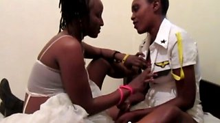 real african lesbian gfs passionate sex with dildo