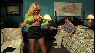 Nina Hartley - Sexy MILF Teaches Young Stud A Lesson