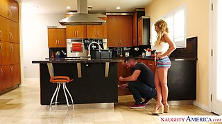 Sex-hungry housewife Kayla Kayden is cheating her man with one horny plumber
