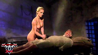 Mysterious Dude Comes To Satisfy Two Hotties At Once