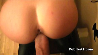 Slim Czech amateur bangs huge cock