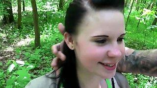 German 18yr Young Schoolgirl Public Threesome after School
